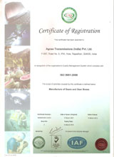 Agnee Transmissions - An ISO 9001:2008 Certified Company